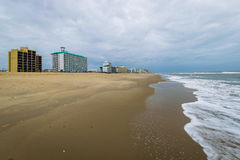 Ocean Front in Virginia Beach, Virginia during a Warm Fall Day Royalty Free Stock Image
