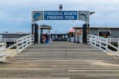 Ocean Front in Virginia Beach, Virginia during a Warm Fall Day Royalty Free Stock Photos