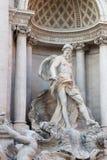Ocean główna statua Trevi fontanna Zdjęcie Royalty Free