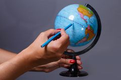 Ocean and globe Royalty Free Stock Images