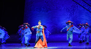 "Ocean going fleet-Dance drama ""The Dream of Maritime Silk Road"" Stock Photo"