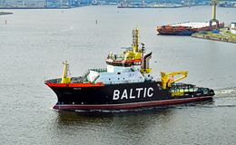 Ocean-going salvage tug BALTIC Royalty Free Stock Images