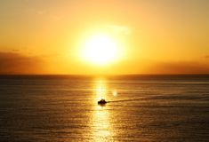 Ocean During Golden Hour Stock Photos