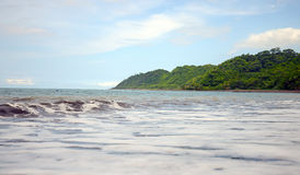 Ocean and green mountains in panama Stock Images