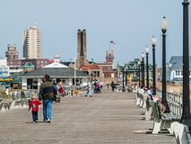 Old Boardwalk Ocean Grove Stock Photography