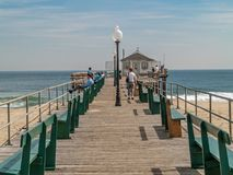 The Old Ocean Grove Fishing Pier Stock Images