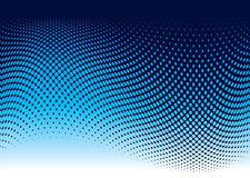Ocean halftone wave. Abstract ocean wave background in blue with copy space Stock Photography