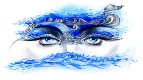 Ocean in her eyes Stock Photography