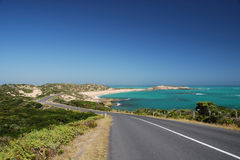 Ocean Highway. Highway at the Southern Ocean, Australia royalty free stock photography