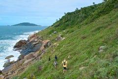 Ocean Hikers Stock Photography