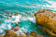 Ocean and Hills stock photography