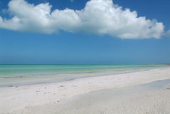 The ocean at Holbox island Royalty Free Stock Photo