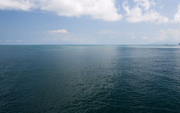 Ocean Horizon. Deep blue waters reach to the horizon in the Gulf of Thailand Stock Photography