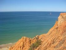 Ocean horizon. From algarve beach Stock Photos