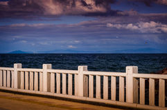Ocean Horizon Through Ferry Port Stock Photography