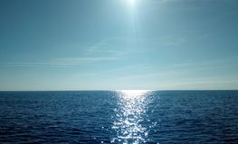 Ocean Horizon. Just the ocean in a sunny day stock image