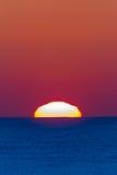 Ocean Horizon Sunrise Landscape. Ocean horizon sunrise shimmering light colors of new day Royalty Free Stock Photos