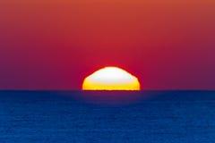 Ocean Horizon Sunrise Landscape. Ocean horizon sunrise shimmering light colors of new day Royalty Free Stock Photo