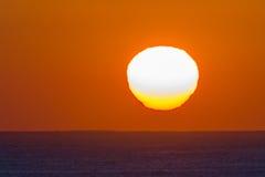 Ocean Horizon Sunrise Landscape. Ocean horizon sunrise shimmering light colors of new day Stock Images