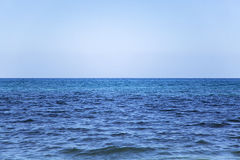 Ocean horizon. View at ocean horizon on the Atlantic stock image
