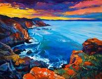 Ocean i falezy Zdjęcie Royalty Free