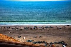 Ocean i łodzie Obraz Royalty Free