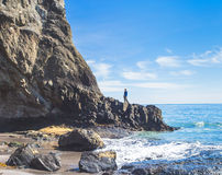 Ocean i skała Obraz Royalty Free