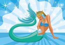 Ocean i syrenki, ilustracja ilustracji