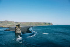 Ocean in Iceland, beautiful landscape Royalty Free Stock Images