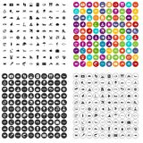 100 ocean icons set vector variant. 100 ocean icons set vector in 4 variant for any web design isolated on white Royalty Free Stock Image