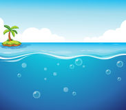 Ocean. Illustration of an island and the ocean Royalty Free Stock Images