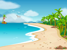 Ocean. Illustration of an ocean view during the day Royalty Free Stock Photography