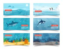 Ocean Illustrations with Scientific Information Royalty Free Stock Photography