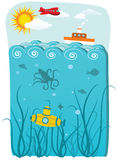 Ocean ilustracja Zdjęcie Stock