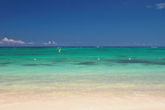 Ocean Indyjski Trou aux Biches, Mauritius Zdjęcie Royalty Free