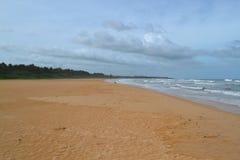 Ocean Indyjski z złotym piaskiem, Bentota, Sri Lanka Cudowny natura krajobraz plażowa scena Zdjęcie Stock