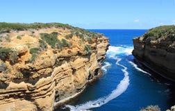 Ocean Inlet. On the great ocean road in Victoria, Australia Stock Image