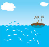 Ocean island Stock Image