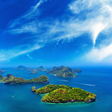 Ocean islands landscape Stock Photography