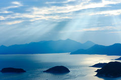 Ocean islands sunrise Landscape Stock Photo