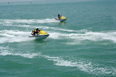 Ocean Jet Ski sport. Racing royalty free stock photography