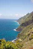 The ocean from the Kalalau trail Royalty Free Stock Images