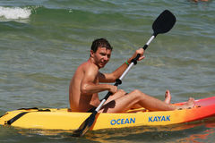 Ocean kayak Royalty Free Stock Photo