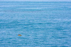 Ocean and Kayak Stock Images