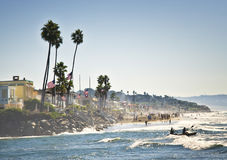 Ocean Kayak and Beach, California Royalty Free Stock Photo