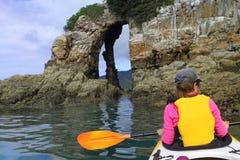 Ocean kayaking Zdjęcie Royalty Free