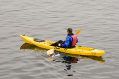 Ocean Kayaking Royalty Free Stock Images