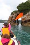 Ocean kayaking Royalty Free Stock Image