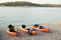 Ocean kayaks Royalty Free Stock Photography