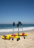 Ocean Kayaks Beach Surf Royalty Free Stock Photo